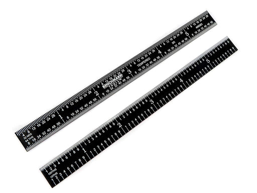 "Benchmark Tools™ Flexible 6"" 5R Black Chrome Machinist Rulers"