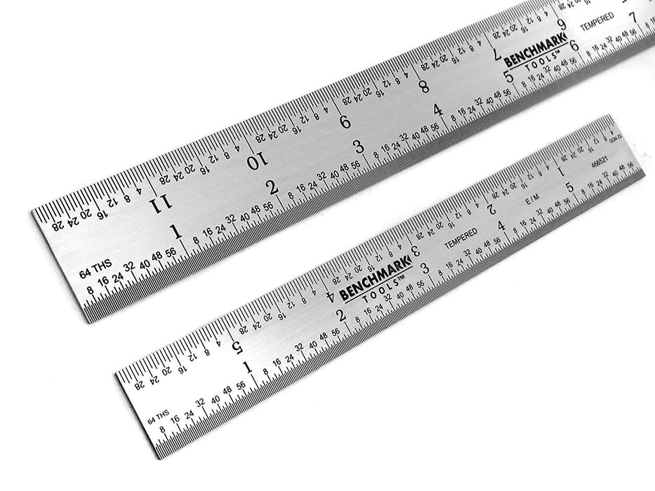 Benchmark Tools™ 2 Piece Rigid 5R Satin Chrome Ruler Sets