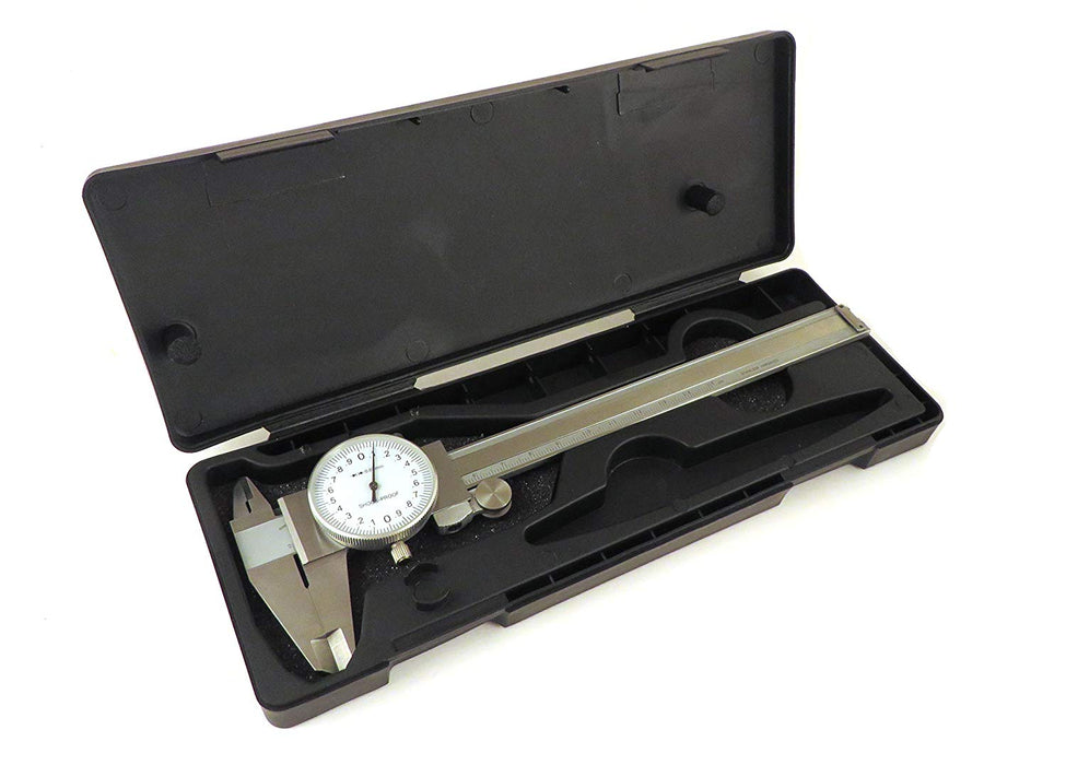 150mm Metric Dial Calipers Stainless Steel ID, OD, Step and Depth