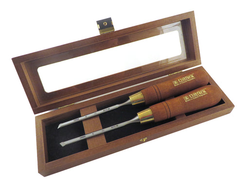 Narex Left and Right Skew Chisel Sets in Wooden Presentation Box