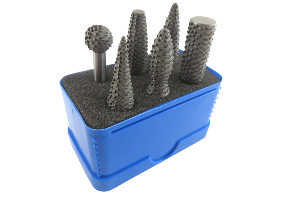 Narex 6 Piece Hand Cut Stitched Rotary Rasp Set (854290)