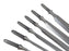 Narex 6 Piece Unhandled Premium Bevel Edge Chisel Blank Set