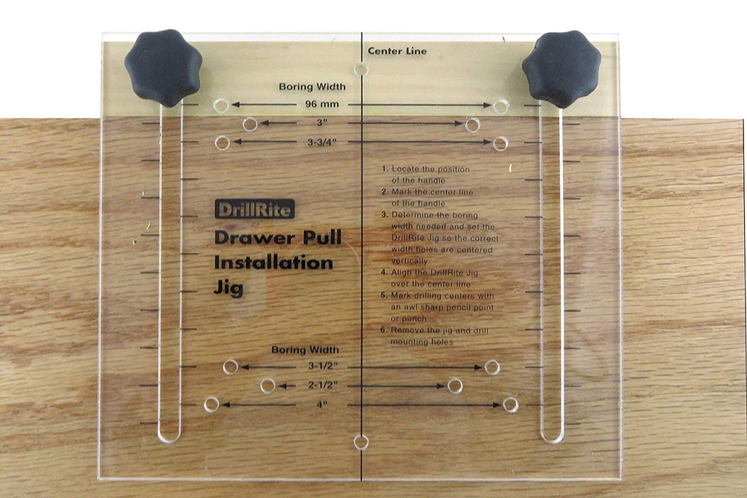 Adjustable Drawer and Door Pull and Knob Installation Jig