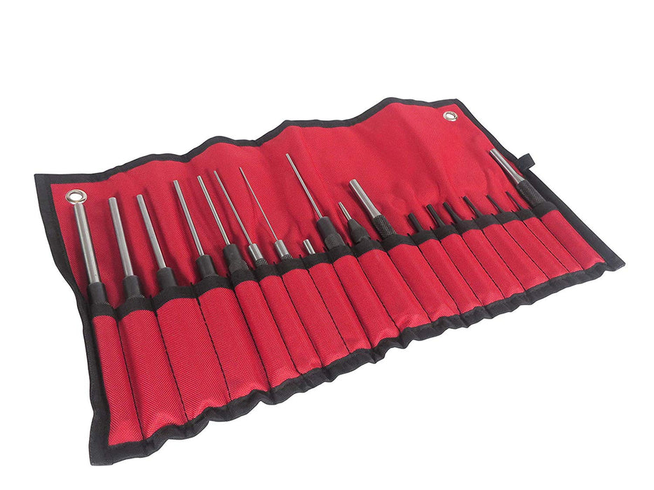 18 Piece Roll Pin Punch Set