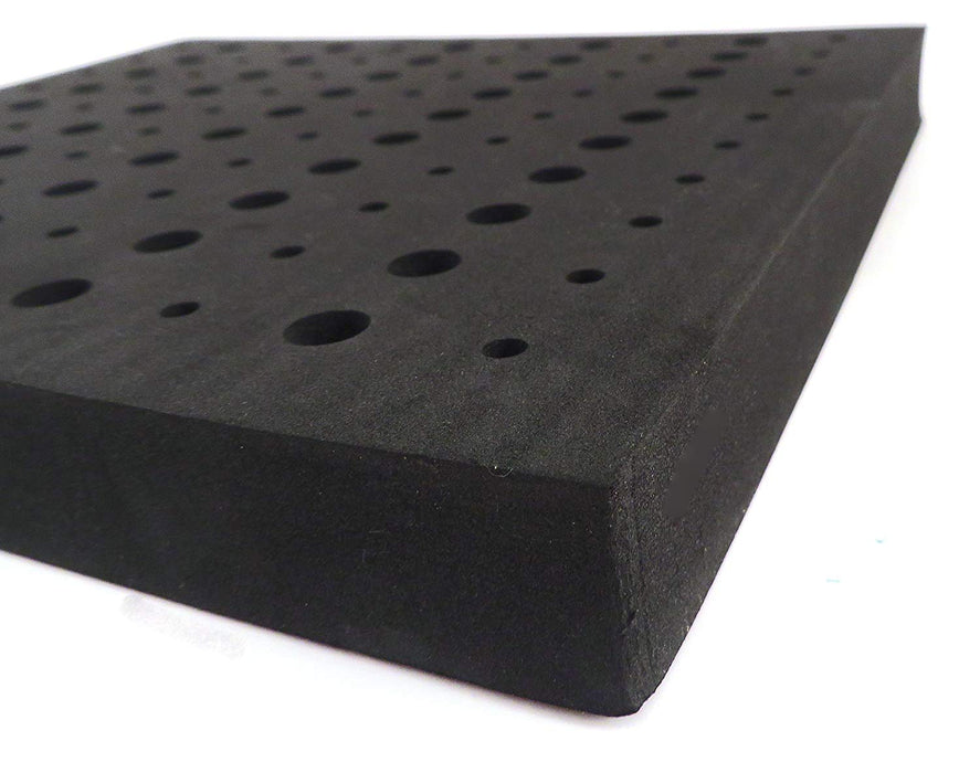 "High Density Foam Router Bit Storage Tray (1/4"" and 1/2"" Holes)"