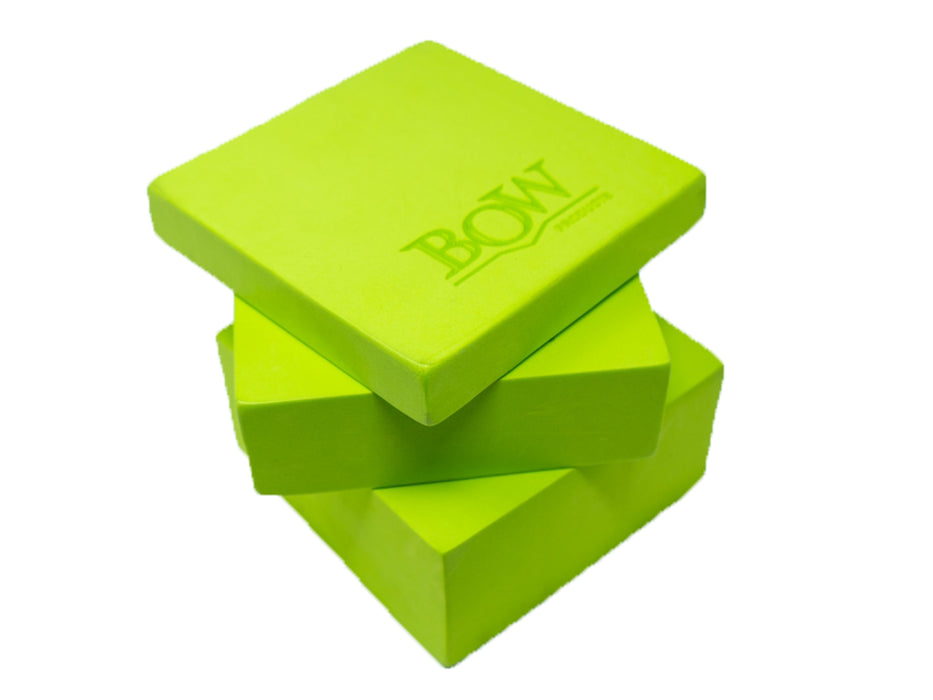 "Bow Products 3 Piece 123 Eva 3 Block Set 1""  2"" and 3""  Square Blocks 6 Inch Square"