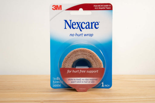 Nexcare™ No Hurt Wrap NHT-1, 1 in x 80 in (25,4 mm x 2 m) Unstretched