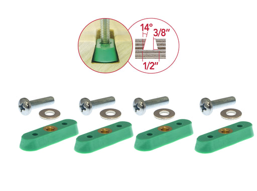 Microjig MATCHFIT™ Dovetail Nut Track Hardware (4-Pack)