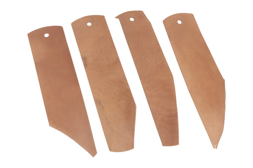 "Seconds  Genuine Horse Butt Leather Strop 12"" x 3"" x 1/8"" with 1.2oz Chromium Oxide 0.5 Micron Polishing Compound Bar"