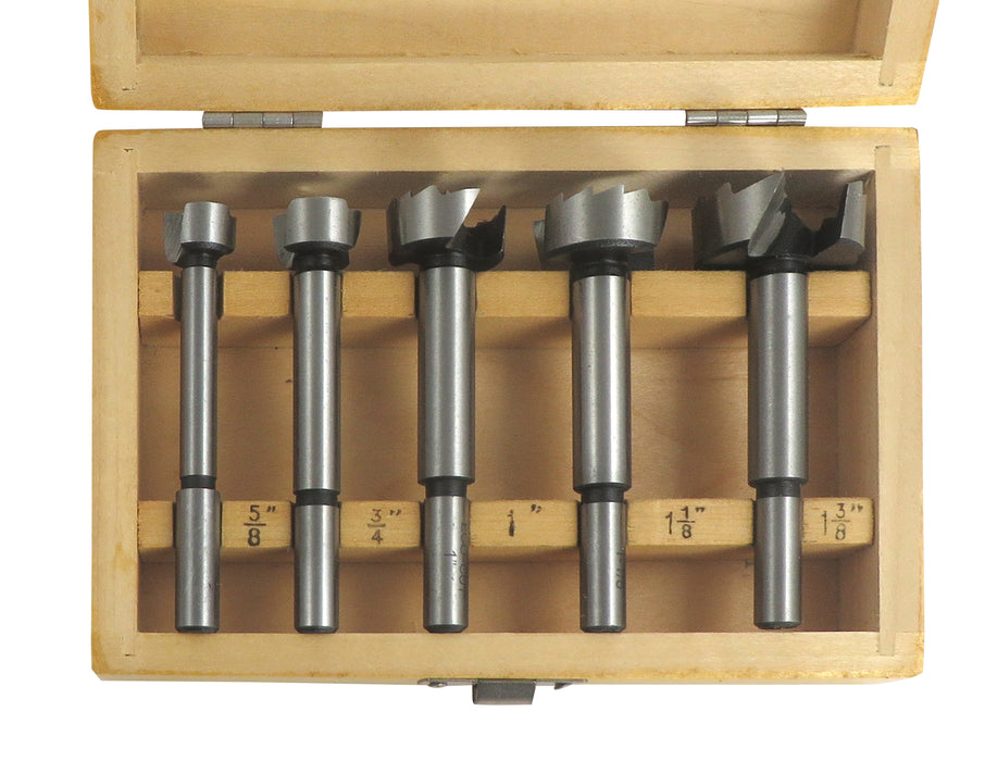 "Colt & Riss Tools 5 Piece Forster Drill Bit Set EcoCut 5/8"", 3/4"", 1"", 1-1/8"" and 1-3/8"""