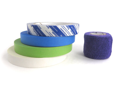 5 Roll Workshop Tape Sampler with Double, Blue, Green Speedtape and Vetrap