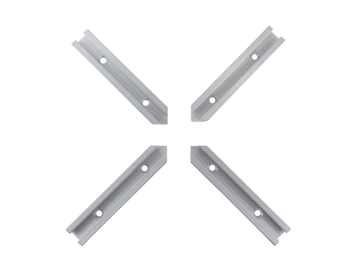 "4 Piece Intersection Kit for Aluminum T Track 3/4"" by 3/8"" #6 Countersink Holes"