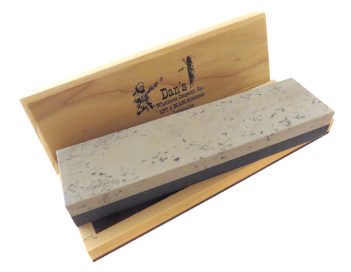 "Dan's Whetstone Combination Bench Stones Soft (Medium) and Black Arkansas (Ultra Fine) 8"" x 2"" x 1"""