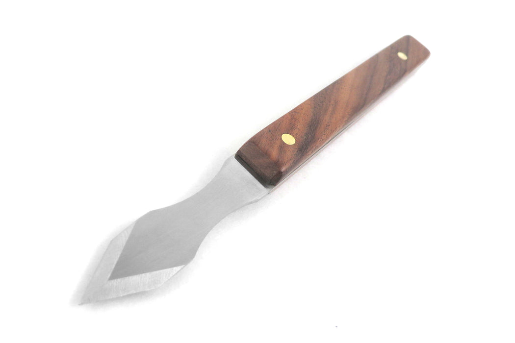 "Mikov Thin Blade Dual Bevel Marking Knife 0.060"" Thick Blade with FInger Indents Rosewood Handle"