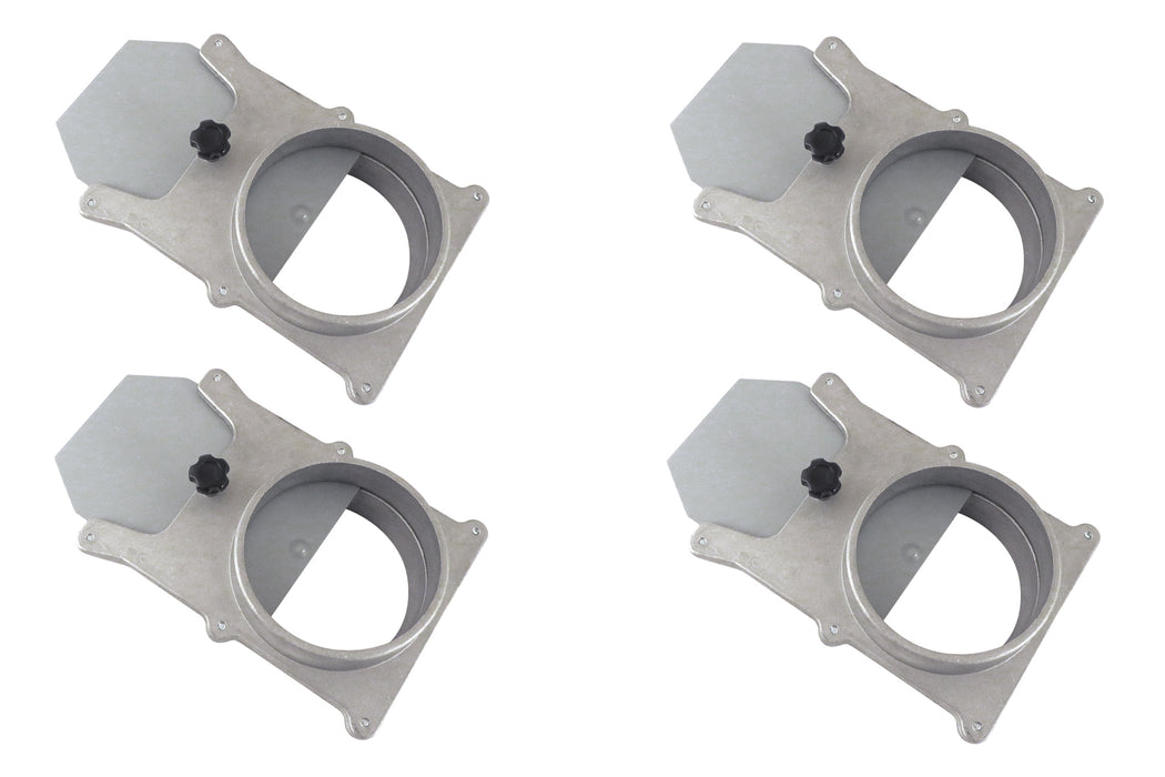"4"" OD Aluminum Self-Cleaning Blast Gates"