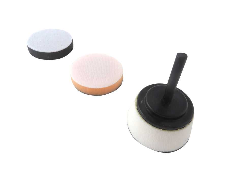 "3 Piece 2"" Bowl Sanding Disc Set Medium and Soft Pads"
