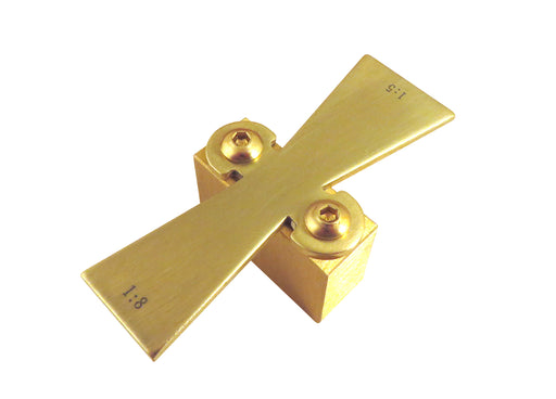 "Solid Brass Dovetail Marking Jig for Stock up to 1"" Thick w/ Slopes 1:5 and 1:8"