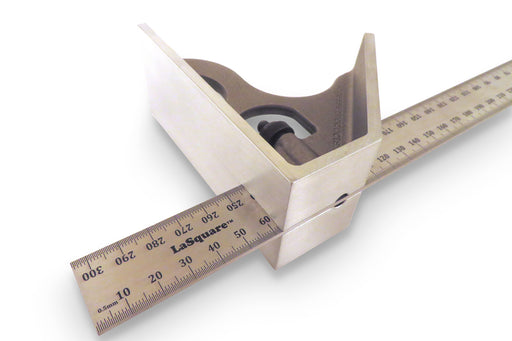 LaSquare 300mm Metric 2 Piece Combination Square / Saddle Square