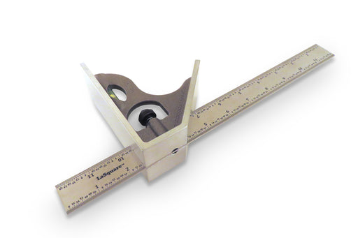 "LaSquare 12"" 4R 2 Piece Combination Square / Saddle Square"