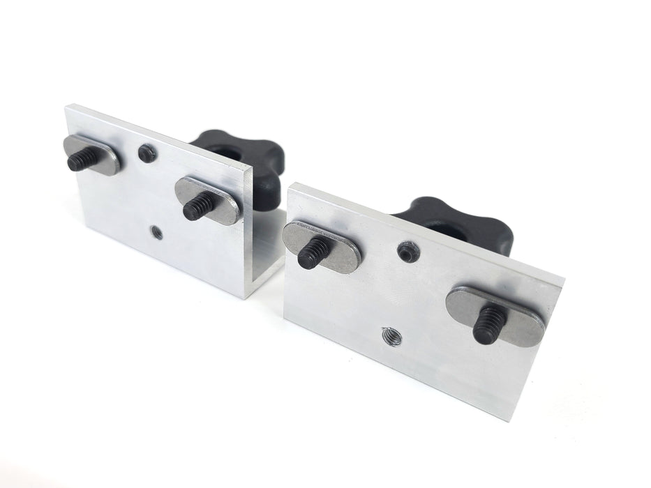 Pair (2 each) Multi Track Angle Adjustable T Track Fence Brackets with Hardware Packet