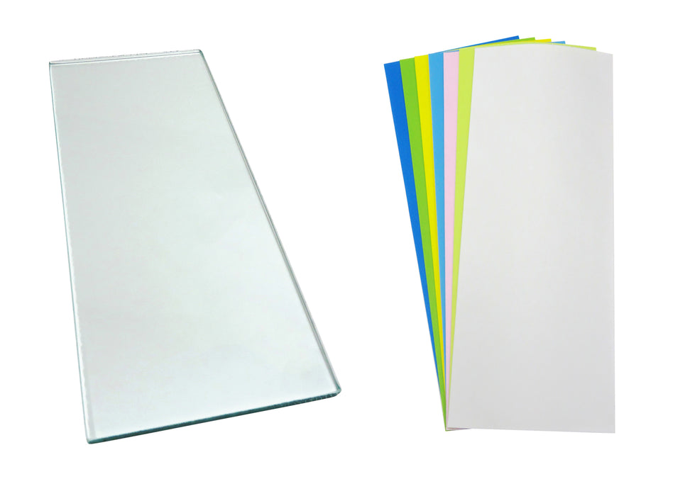 One sheet 5/16 x 5 x 12 Float Glass with 7 Sheets 3M™ PSA Lapping Film for Scary Sharp System