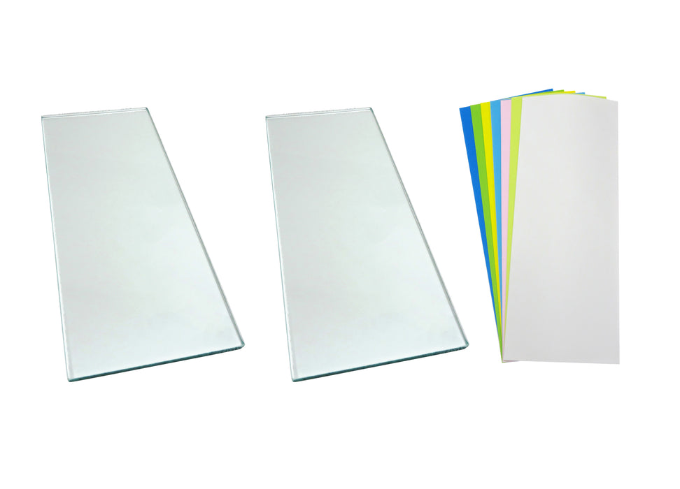 Two sheets 5/16 x 5 x 12 Float Glass and 7 Sheets 3M™ PSA Lapping Film for Scary Sharp System