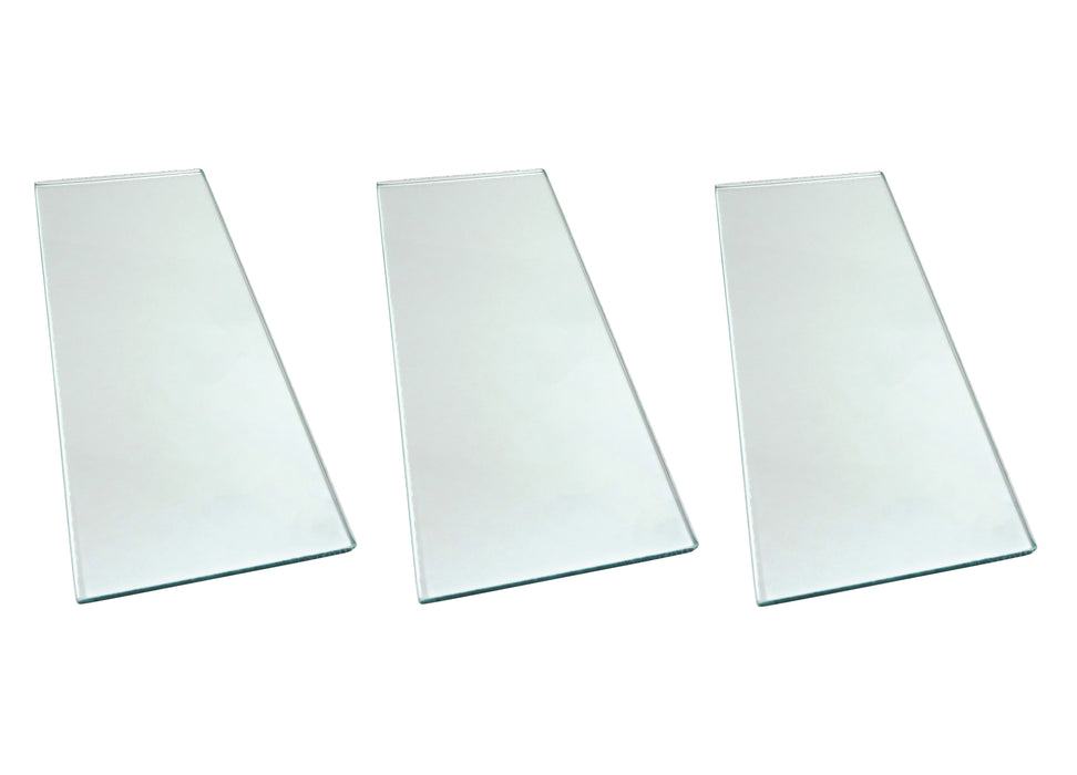 "Three sheets 5/16"" x 5"" x 12"" Float Glass and 7 Sheets 3M™ PSA Lapping Film"