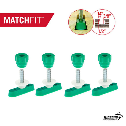 "Microjig MATCHFIT™ 1"" Dovetail Track Hardware (4-Pack)"