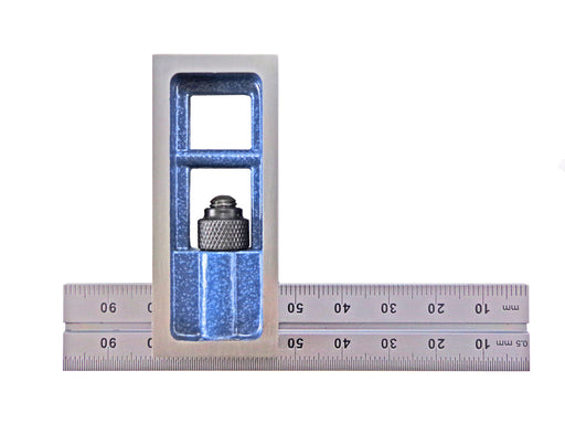PEC Tools Metric Double Squares with .5mm and mm Graduations