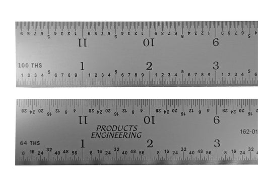 PEC Tools 16R Rigid Satin Chrome Rulers