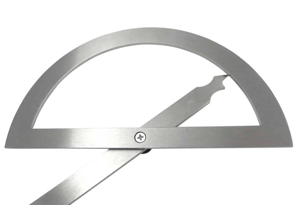 "Kinex 7-3/4"" (200mm) Stainless Steel Protractor"