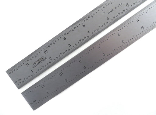 "PEC Blem Rigid Rulers 16R (1/10, 1/50, 1/32 1/64) 6"" to 48"""