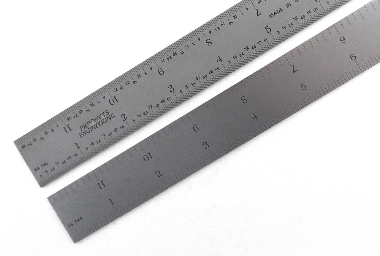 "PEC Blem Rigid Rulers 4R (1/18, 1/16, 1/32, 1/64) 6"" to 48"""