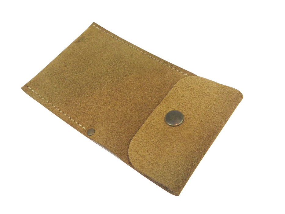 French Leather Cabinet Scraper Case Holder Wallet
