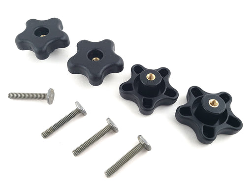T-Track 8 Piece Knob Kit with 4 Star Knobs and 4 each T-Bolts for Jigs and Fixtures