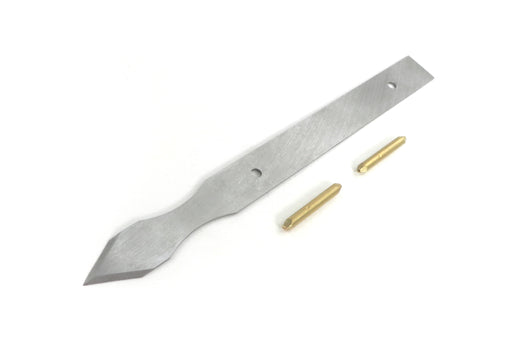 "Mikov Unhandled Super Thin Blade Dual Bevel Marking Knife Kit with Finger Indents 0.030"" Thick Blade"