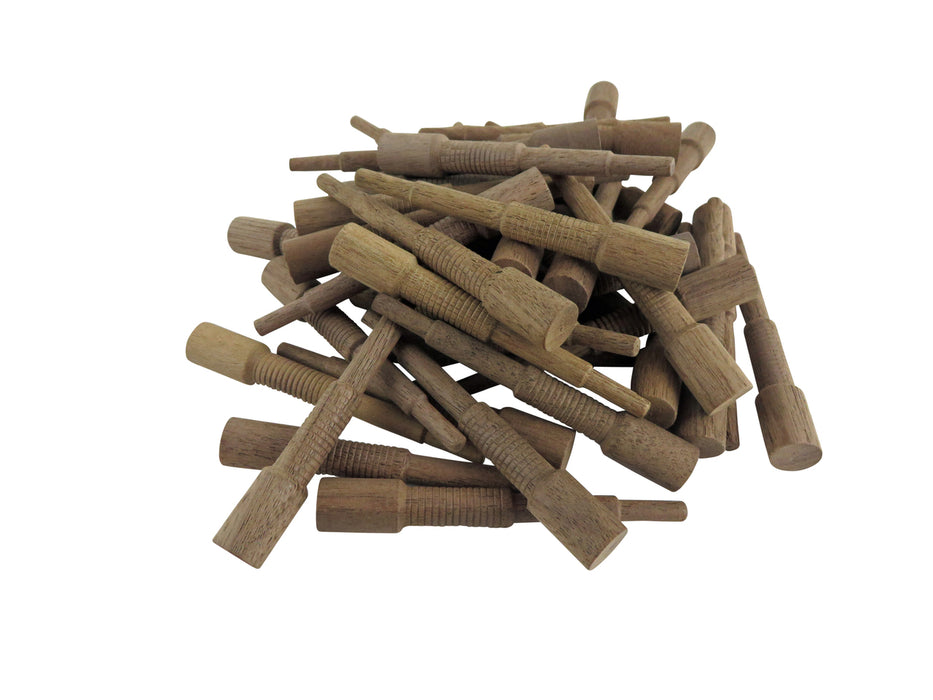 Miller Dowel 100 Pack of Mini Stepped Walnut Dowels