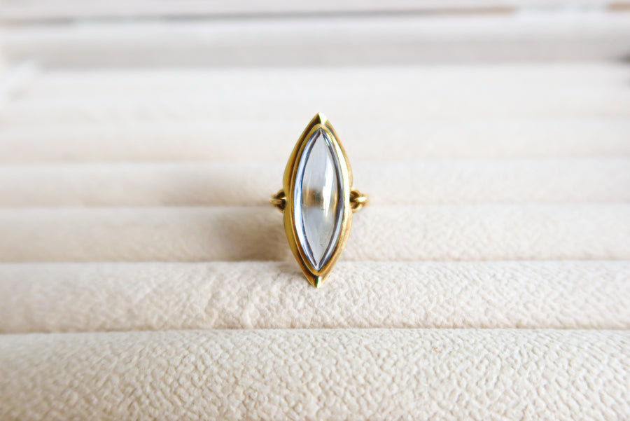 14K Yellow Gold Spinel Ring