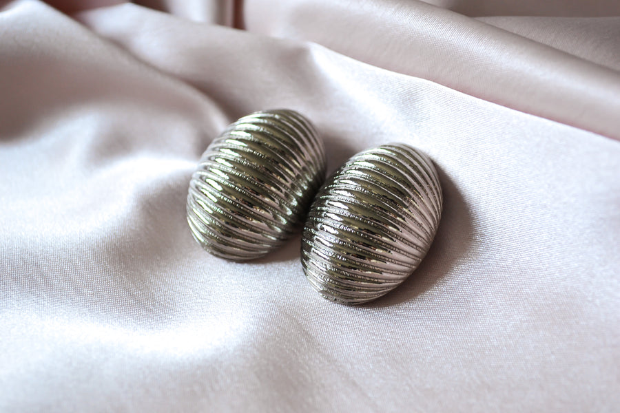 Textured Dome Clip-On Earrings