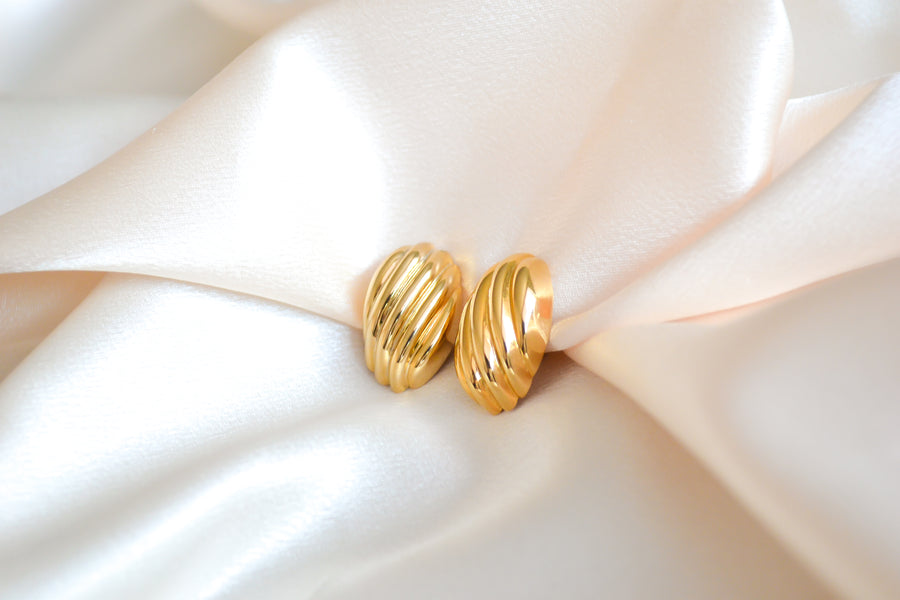 Textured Circular Clip-On Earrings