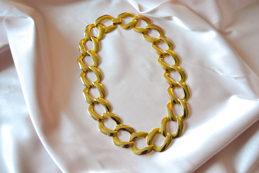 Skinny Linked Gold Tone Chain