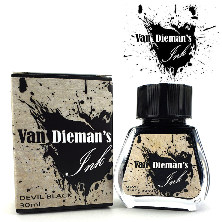 Van Dieman's Fountain Pen Ink, Devil Black