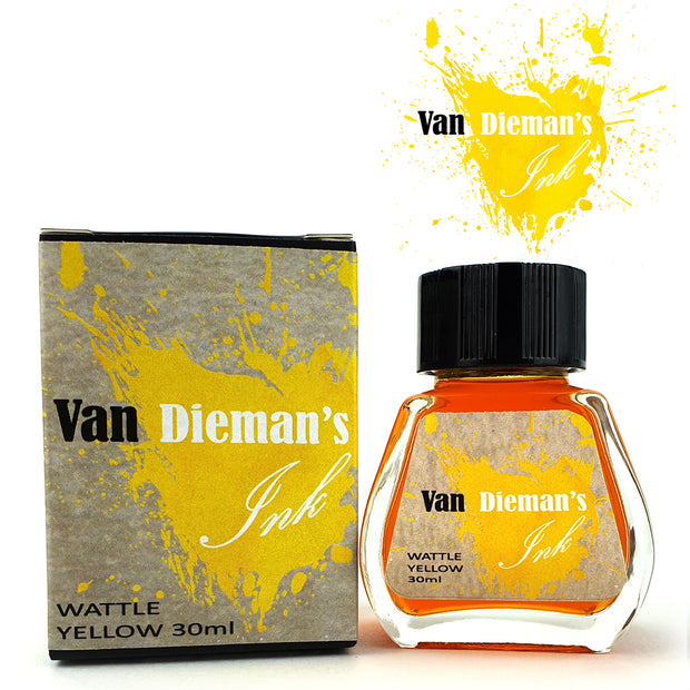Van Dieman's Fountain Pen Ink, Wattle Yellow