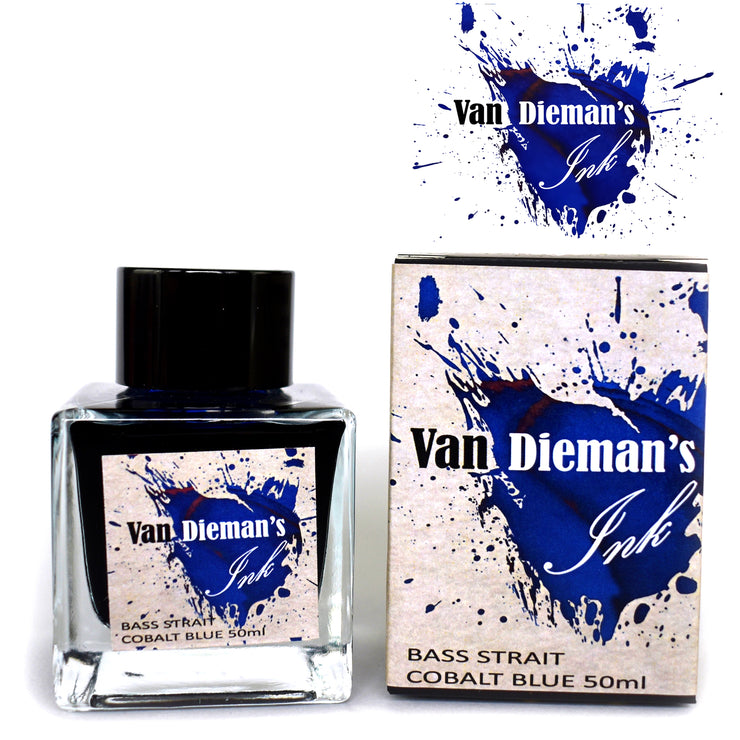 Van Dieman's Fountain Pen Ink, Bass Strait Cobalt Blue