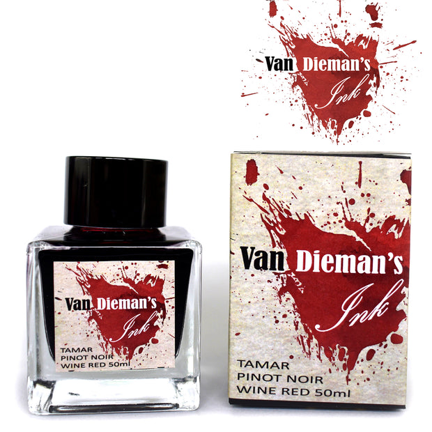 Van Dieman's Fountain Pen Ink, Tamar Pinot Noir Wine Red