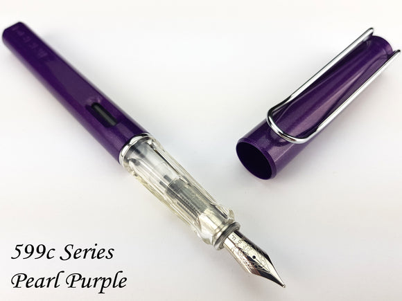 JINHAO 599-c Pearl Purple Fountain Pen - Fine Nib
