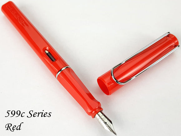 JINHAO 599-c Red Fountain Pen - Fine Nib