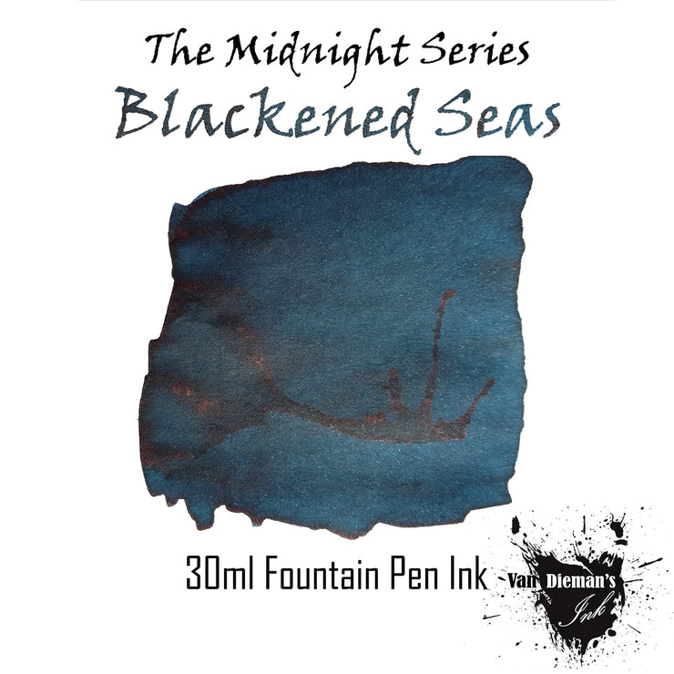 Van Dieman's The Midnight Series Blackened Seas - 30ml Fountain Pen Ink