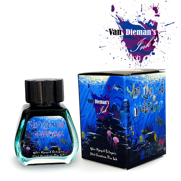 Van Dieman's Underwater: Blue Ringed Octopus - High Saturation Fountain Pen Ink