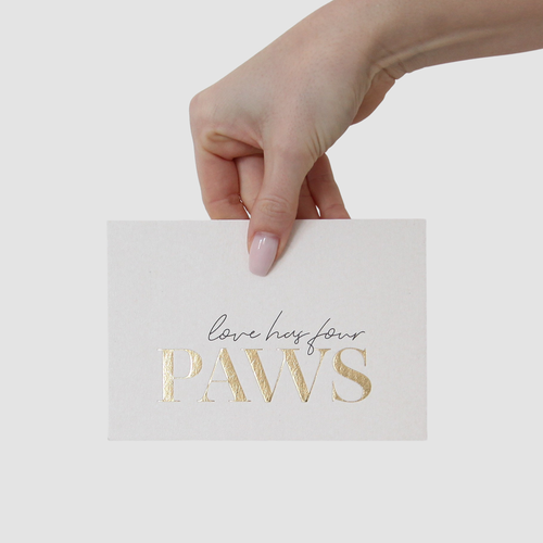 Postkarte | love has four paws